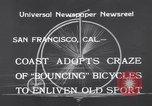 Image of Rhythm Bicycles San Francisco California USA, 1933, second 4 stock footage video 65675041254