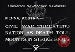 Image of Strikers riot Vienna Austria, 1934, second 4 stock footage video 65675041261