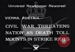 Image of Strikers riot Vienna Austria, 1934, second 6 stock footage video 65675041261