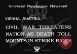 Image of Strikers riot Vienna Austria, 1934, second 9 stock footage video 65675041261
