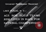 Image of Bobsled Lake Placid New York USA, 1934, second 2 stock footage video 65675041268
