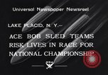 Image of Bobsled Lake Placid New York USA, 1934, second 3 stock footage video 65675041268