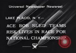 Image of Bobsled Lake Placid New York USA, 1934, second 6 stock footage video 65675041268