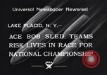 Image of Bobsled Lake Placid New York USA, 1934, second 8 stock footage video 65675041268