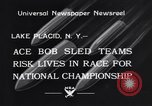 Image of Bobsled Lake Placid New York USA, 1934, second 9 stock footage video 65675041268