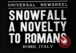 Image of Snow fall Rome Italy, 1935, second 1 stock footage video 65675041271