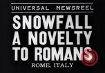 Image of Snow fall Rome Italy, 1935, second 3 stock footage video 65675041271