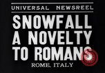 Image of Snow fall Rome Italy, 1935, second 4 stock footage video 65675041271