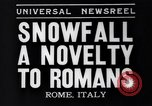 Image of Snow fall Rome Italy, 1935, second 5 stock footage video 65675041271