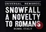 Image of Snow fall Rome Italy, 1935, second 6 stock footage video 65675041271