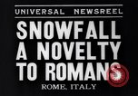 Image of Snow fall Rome Italy, 1935, second 8 stock footage video 65675041271