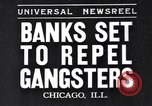 Image of bank security measures against gangster bank robbers Chicago Illinois USA, 1935, second 1 stock footage video 65675041275