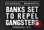 Image of bank security measures against gangster bank robbers Chicago Illinois USA, 1935, second 5 stock footage video 65675041275