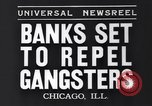 Image of bank security measures against gangster bank robbers Chicago Illinois USA, 1935, second 6 stock footage video 65675041275
