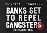 Image of bank security measures against gangster bank robbers Chicago Illinois USA, 1935, second 7 stock footage video 65675041275