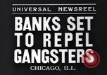 Image of bank security measures against gangster bank robbers Chicago Illinois USA, 1935, second 8 stock footage video 65675041275