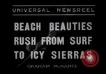 Image of surfing Venice Beach Los Angeles California USA, 1935, second 3 stock footage video 65675041280