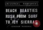 Image of surfing Venice Beach Los Angeles California USA, 1935, second 4 stock footage video 65675041280