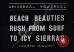 Image of surfing Venice Beach Los Angeles California USA, 1935, second 6 stock footage video 65675041280