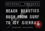 Image of surfing Venice Beach Los Angeles California USA, 1935, second 7 stock footage video 65675041280