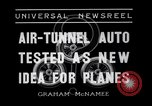 Image of Air-tunnel auto Kansas City Missouri USA, 1936, second 5 stock footage video 65675041296