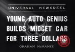 Image of small automobile Rockville Maryland United States USA, 1936, second 8 stock footage video 65675041301