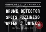 Image of Drunk detector Cleveland Ohio USA, 1936, second 3 stock footage video 65675041302