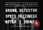Image of Drunk detector Cleveland Ohio USA, 1936, second 5 stock footage video 65675041302