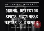 Image of Drunk detector Cleveland Ohio USA, 1936, second 6 stock footage video 65675041302