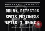 Image of Drunk detector Cleveland Ohio USA, 1936, second 7 stock footage video 65675041302