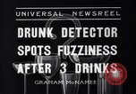 Image of Drunk detector Cleveland Ohio USA, 1936, second 8 stock footage video 65675041302