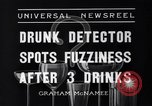 Image of Drunk detector Cleveland Ohio USA, 1936, second 10 stock footage video 65675041302