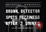 Image of Drunk detector Cleveland Ohio USA, 1936, second 11 stock footage video 65675041302