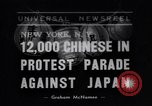 Image of Protest parade New York City USA, 1938, second 1 stock footage video 65675041309