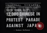 Image of Protest parade New York City USA, 1938, second 2 stock footage video 65675041309