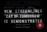 Image of streamlined car Reseda California USA, 1938, second 1 stock footage video 65675041316