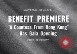 Image of premiere of movie 'A Countess From Hong Kong' directed by Charlie Chap New York United States USA, 1967, second 1 stock footage video 65675041324