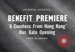 Image of premiere of movie 'A Countess From Hong Kong' directed by Charlie Chap New York United States USA, 1967, second 3 stock footage video 65675041324
