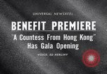 Image of premiere of movie 'A Countess From Hong Kong' directed by Charlie Chap New York United States USA, 1967, second 5 stock footage video 65675041324