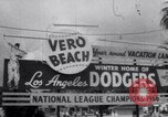 Image of Los Angeles Dodgers vs Tokyo Giants pre-season baseball game Vero Beach Florida USA, 1967, second 4 stock footage video 65675041326