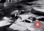 Image of Kayak Race Vezere River France, 1953, second 1 stock footage video 65675041360