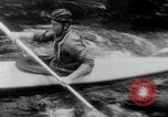 Image of Kayak Race Vezere River France, 1953, second 10 stock footage video 65675041360