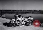 Image of Amphibious motorcycle Spain, 1955, second 2 stock footage video 65675041367