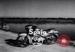 Image of Amphibious motorcycle Spain, 1955, second 3 stock footage video 65675041367