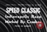 Image of racing event Indianapolis Indiana USA, 1956, second 1 stock footage video 65675041376
