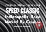 Image of racing event Indianapolis Indiana USA, 1956, second 4 stock footage video 65675041376