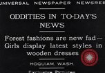 Image of wooden dresses Hoquiam Washington USA, 1929, second 1 stock footage video 65675041384