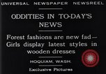 Image of wooden dresses Hoquiam Washington USA, 1929, second 9 stock footage video 65675041384