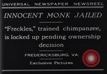 Image of trained chimpanzee Fredericksburg Virginia USA, 1929, second 7 stock footage video 65675041385