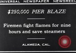 Image of pier blaze Alameda California USA, 1929, second 3 stock footage video 65675041387